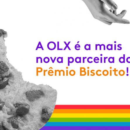 capa para o artigo sobre o prêmio biscoito e a parceria com a OLX